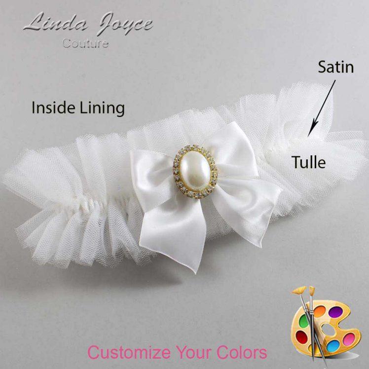 Couture Garters / Custom Wedding Garter / Customizable Wedding Garters / Personalized Wedding Garters / Maggie #23-B01-M29 / Wedding Garters / Bridal Garter / Prom Garter / Linda Joyce Couture