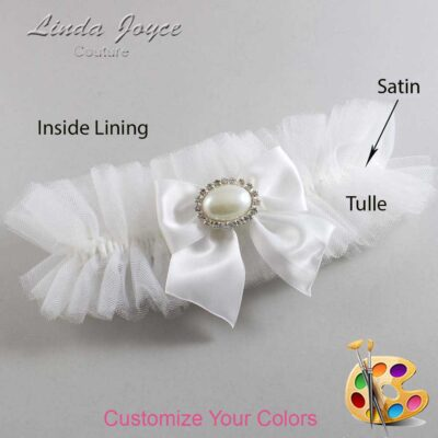 Couture Garters / Custom Wedding Garter / Customizable Wedding Garters / Personalized Wedding Garters / Nicole #23-B01-M30 / Wedding Garters / Bridal Garter / Prom Garter / Linda Joyce Couture