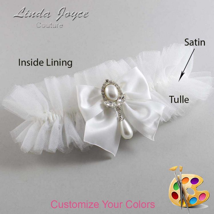 Couture Garters / Custom Wedding Garter / Customizable Wedding Garters / Personalized Wedding Garters / Jessica #23-B01-M32 / Wedding Garters / Bridal Garter / Prom Garter / Linda Joyce Couture