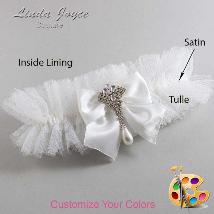 Couture Garters / Custom Wedding Garter / Customizable Wedding Garters / Personalized Wedding Garters / Madeline #23-B01-M33 / Wedding Garters / Bridal Garter / Prom Garter / Linda Joyce Couture