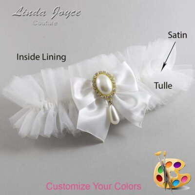 Customizable Wedding Garter / Michaela #23-B01-M34