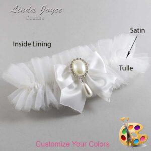 Couture Garters / Custom Wedding Garter / Customizable Wedding Garters / Personalized Wedding Garters / Michaela #23-B01-M35 / Wedding Garters / Bridal Garter / Prom Garter / Linda Joyce Couture