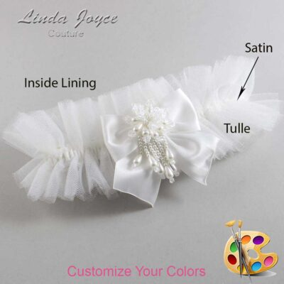 Couture Garters / Custom Wedding Garter / Customizable Wedding Garters / Personalized Wedding Garters / Daphne #23-B01-M38 / Wedding Garters / Bridal Garter / Prom Garter / Linda Joyce Couture