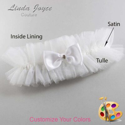 Couture Garters / Custom Wedding Garter / Customizable Wedding Garters / Personalized Wedding Garters / Jodi #23-B29-M03 / Wedding Garters / Bridal Garter / Prom Garter / Linda Joyce Couture