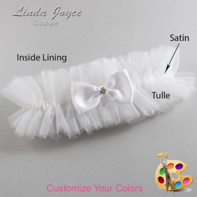 Couture Garters / Custom Wedding Garter / Customizable Wedding Garters / Personalized Wedding Garters / Jodi #23-B29-M04 / Wedding Garters / Bridal Garter / Prom Garter / Linda Joyce Couture