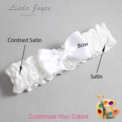 Couture Garters / Custom Wedding Garter / Customizable Wedding Garters / Personalized Wedding Garters / Justine #01-B29-00 / Wedding Garters / Bridal Garter / Prom Garter / Linda Joyce Couture