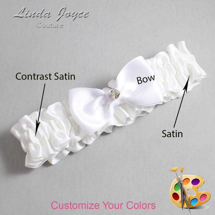 Couture Garters / Custom Wedding Garter / Customizable Wedding Garters / Personalized Wedding Garters / Jodi #01-B29-M04 / Wedding Garters / Bridal Garter / Prom Garter / Linda Joyce Couture