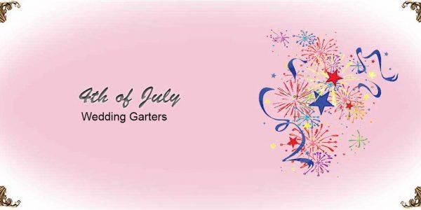 4th of July Wedding Garters