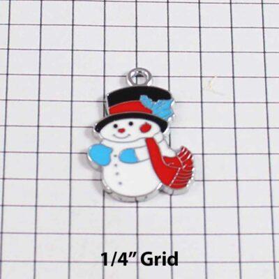 Christmas Wedding Garter / Snowman / Frosty / Holiday - Charm 41 / Wedding Garters / Bridal Garter / Prom Garter / Linda Joyce Couture