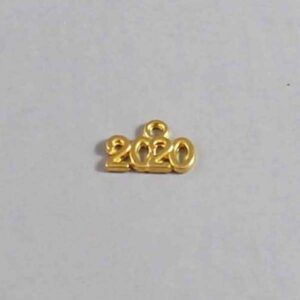 Wedding Date Garter / Gold / Year 2020 - Charm-047 / Wedding Garters / Bridal Garter / Prom Garter / Linda Joyce Couture