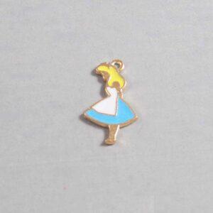 Alice in Wonderland Wedding Garter / Disney / Fairy Tale - Charm-056 / Wedding Garters / Bridal Garter / Prom Garter / Linda Joyce Couture