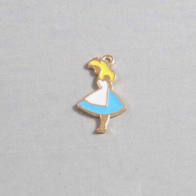 Alice in Wonderland Wedding Garter / Disney / Fairy Tale - Charm 56 / Wedding Garters / Bridal Garter / Prom Garter / Linda Joyce Couture