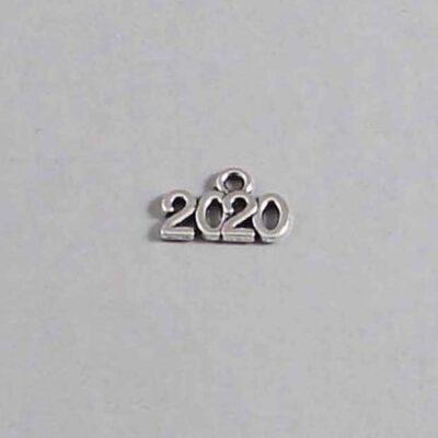 Wedding Date Garter / Silver / Year 2020 - Charm 57 / Wedding Garters / Bridal Garter / Prom Garter / Linda Joyce Couture