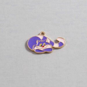 Alice in Wonderland Wedding Garter / Cheshire Cat / Disney / Fairy Tale - Charm-058 / Wedding Garters / Bridal Garter / Prom Garter / Linda Joyce Couture
