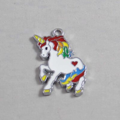 Rainbow Unicorn Wedding Garter / Gay / Pride / LGBTQ - Charm 061 / Wedding Garters / Bridal Garter / Prom Garter / Linda Joyce Couture