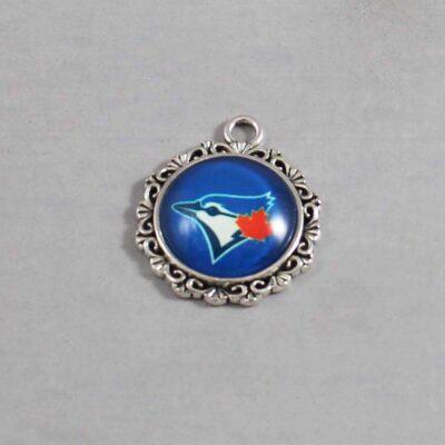 Toronto Blue Jays Wedding Garter / MLB / Baseball - Charm 64 / Wedding Garters / Bridal Garter / Prom Garter / Linda Joyce Couture