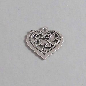 Heart Wedding Garter / St Valentine's Day - Charm-087 / Wedding Garters / Bridal Garter / Prom Garter / Linda Joyce Couture