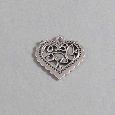 Heart Wedding Garter / St Valentine's Day - Charm 87 / Wedding Garters / Bridal Garter / Prom Garter / Linda Joyce Couture
