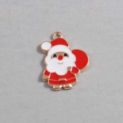 Christmas Wedding Garter / Santa Claus / Father Christmas / Saint Nicholas / Saint Nick / Kris Kringle / Holiday - Charm 97 / Wedding Garters / Bridal Garter / Prom Garter / Linda Joyce Couture