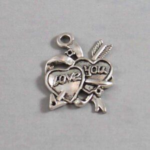 Valentine's Day Wedding Garter / Heart - Charm-106 / Wedding Garters / Bridal Garter / Prom Garter / Linda Joyce Couture