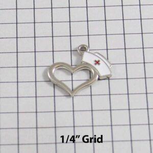 Nurse Wedding Garter / Nurse's Cap Heart / Medical - Charm-108 / Wedding Garters / Bridal Garter / Prom Garter / Linda Joyce Couture