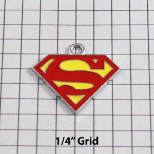 Superman Wedding Garter / DC Comics - Charm-111 / Wedding Garters / Bridal Garter / Prom Garter / Linda Joyce Couture