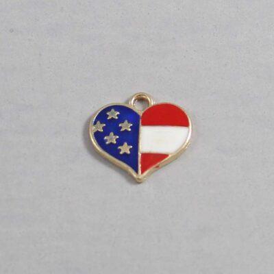 US Flag / Heart / 4th of July Wedding Garter / Independence Day / United States - Charm 131 / Wedding Garters / Bridal Garter / Prom Garter / Linda Joyce Couture