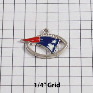 New England Patriots Wedding Garter / NFL / Football - Charm-132 / Wedding Garters / Bridal Garter / Prom Garter / Linda Joyce Couture