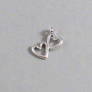 Heart Wedding Garter / St. Valentine's Day / Double Heart - Charm-140 / Wedding Garters / Bridal Garter / Prom Garter / Linda Joyce Couture