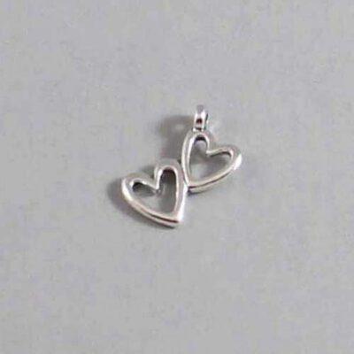 Heart Wedding Garter / St. Valentine's Day / Double Heart - Charm 140 / Wedding Garters / Bridal Garter / Prom Garter / Linda Joyce Couture