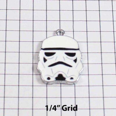 Star Wars Wedding Garter / Space Wars / Stormtrooper / Sci Fi / Storm Tropper - Charm 144 / Wedding Garters / Bridal Garter / Prom Garter / Linda Joyce Couture