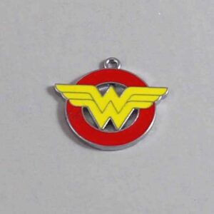 Wonder Woman Wedding Garter / DC Comics / Superhero - Charm-151 / Wedding Garters / Bridal Garter / Prom Garter / Linda Joyce Couture