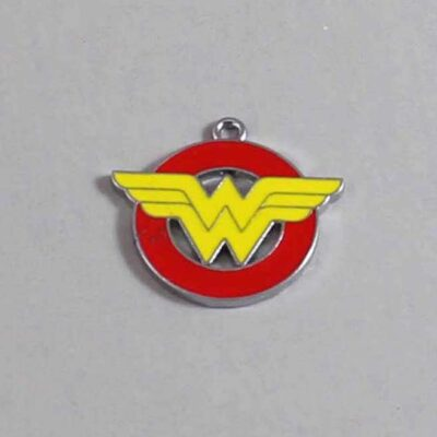 Wonder Woman Wedding Garter / DC Comics / Superhero - Charm 151 / Wedding Garters / Bridal Garter / Prom Garter / Linda Joyce Couture