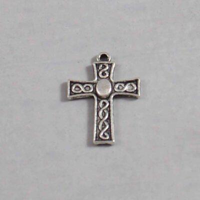 Spiritual and Religious Wedding Garter / Christian / Crucifix / Christianity / Cross / Jesus - Charm 178 / Wedding Garters / Bridal Garter / Prom Garter / Linda Joyce Couture