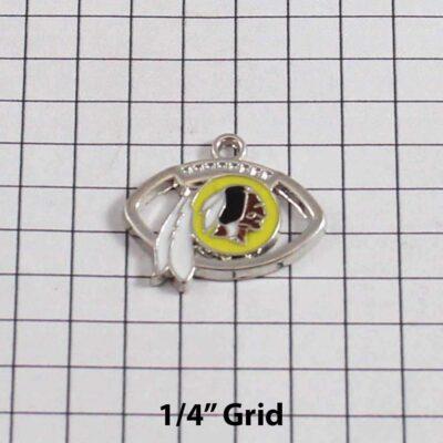 Washington Redskins Wedding Garter / NFL / Football - Charm 193 / Wedding Garters / Bridal Garter / Prom Garter / Linda Joyce Couture