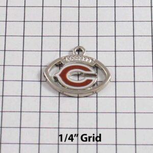 Chicago Bears Wedding Garter / NFL / Football - Charm-206 / Wedding Garters / Bridal Garter / Prom Garter / Linda Joyce Couture