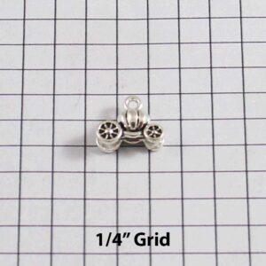 Cinderella Wedding Garter / Tiny / Pumpkin Coach / Carriage / - Charm-215 / Wedding Garters / Bridal Garter / Prom Garter / Linda Joyce Couture