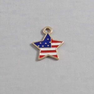 US Flag / Star / 4th of July Wedding Garter / Independence Day / United States - Charm-219 / Wedding Garters / Bridal Garter / Prom Garter / Linda Joyce Couture