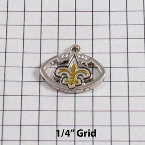 New Orleans Saints Wedding Garter / NFL / Football - Charm-221 / Wedding Garters / Bridal Garter / Prom Garter / Linda Joyce Couture
