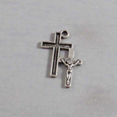 Spiritual and Religious Wedding Garter / Christian / Crucifix / Christianity / Cross / Jesus - Charm 223 / Wedding Garters / Bridal Garter / Prom Garter / Linda Joyce Couture