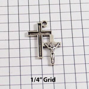 Spiritual and Religious Wedding Garter / Christian / Crucifix / Christianity / Cross / Jesus - Charm-223 / Wedding Garters / Bridal Garter / Prom Garter / Linda Joyce Couture
