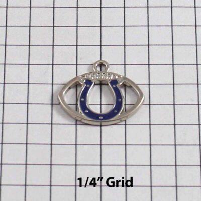 Indianalopis Colts Wedding Garter / NFL / Football - Charm 234 / Wedding Garters / Bridal Garter / Prom Garter / Linda Joyce Couture