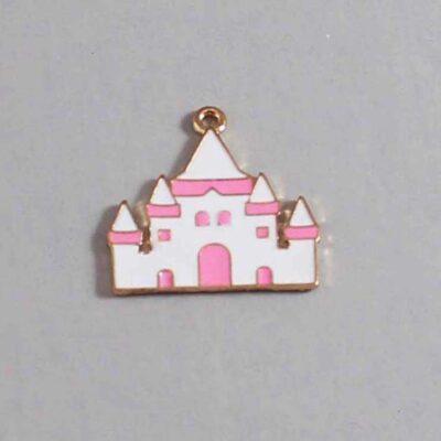 Castle Wedding Garter / Fairy Tale - Charm 242 / Wedding Garters / Bridal Garter / Prom Garter / Linda Joyce Couture