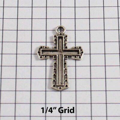 Spiritual and Religious Wedding Garter / Christian / Crucifix / Christianity / Cross / Jesus - Charm 247 / Wedding Garters / Bridal Garter / Prom Garter / Linda Joyce Couture