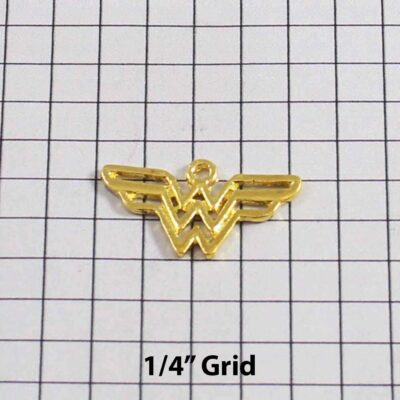 Wonder Woman Wedding Garter / DC Comics / Superhero - Charm 264 / Wedding Garters / Bridal Garter / Prom Garter / Linda Joyce Couture