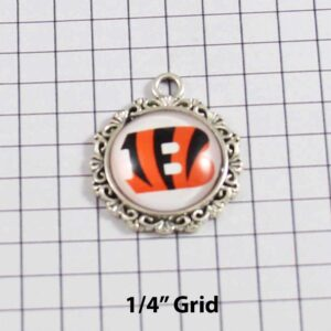 Cincinnati Bengals Wedding Garter / NFL / Football - Charm-271 / Wedding Garters / Bridal Garter / Prom Garter / Linda Joyce Couture