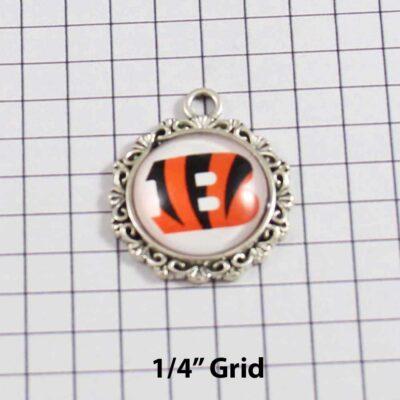 Cincinnati Bengals Wedding Garter / NFL / Football - Charm 271 / Wedding Garters / Bridal Garter / Prom Garter / Linda Joyce Couture