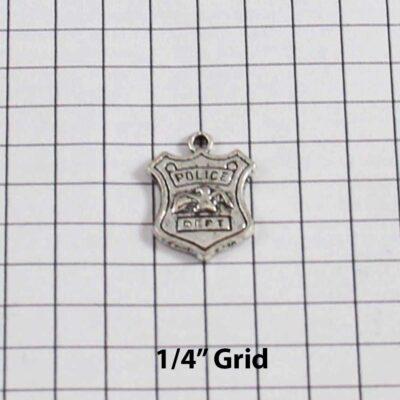 Police Wedding Garter / Police Officer / Cop / Detective / Badge / Shield  - Charm 272 / Wedding Garters / Bridal Garter / Prom Garter / Linda Joyce Couture
