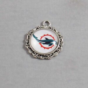 Miami Dolphins Wedding Garter / NFL / Football - Charm-277 / Wedding Garters / Bridal Garter / Prom Garter / Linda Joyce Couture