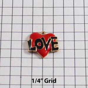 Heart Wedding Garter / St. Valentine's Day / Red / Black / Tattoo - Charm-284 / Wedding Garters / Bridal Garter / Prom Garter / Linda Joyce Couture